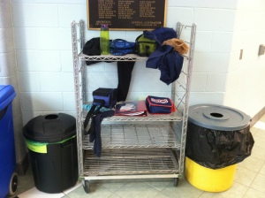 Less than one week in and we have all of this in the Lost & Found!
